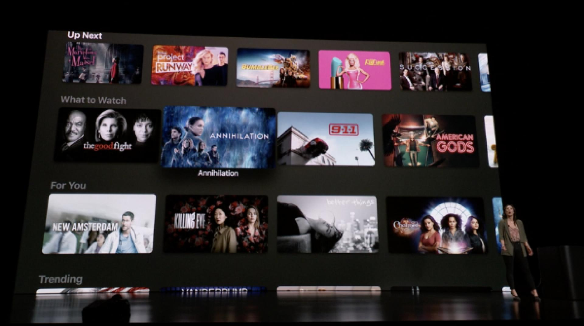 Apple TV App prezentace